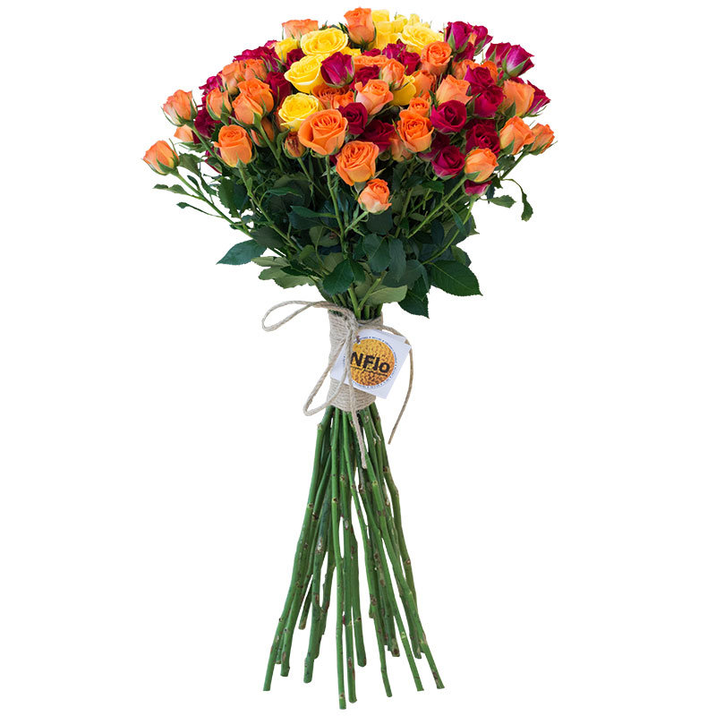 Букет  из 11 кустовых роз «Ароматное конфетти»