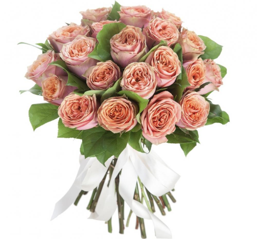 Букет  из 25 пионовидных роз Вайлд Лук «Страна любви»