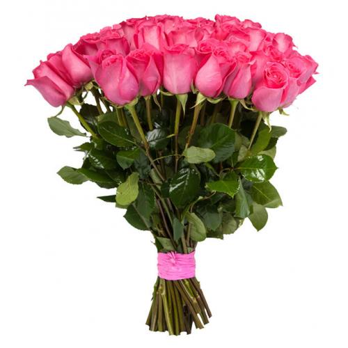 Букет  из 45 розовых роз «Долгожданное счастье»