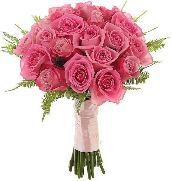 Букет невесты из 23 розовых роз «Соланж»