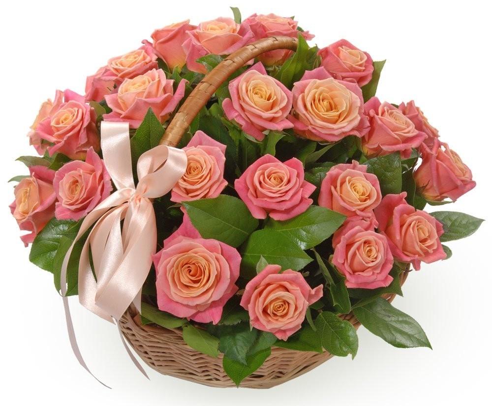 Корзина цветов с 29 розами Мисс Пигги «Ароматный блюз»