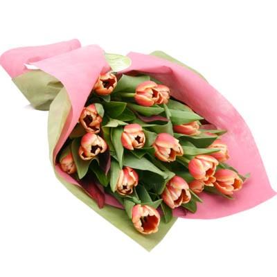 Букет из 17 тюльпанов «Муза Ренуара»