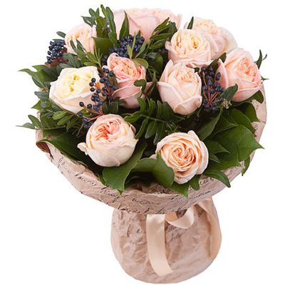 Букет из 11 пионовидных роз «Утренняя нега»