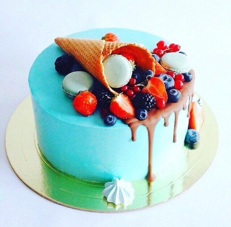«Торт рожок с фруктами»