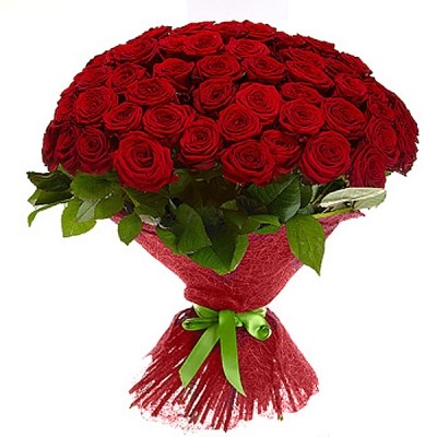 Букет из 51 красной розы «Алый вихрь»